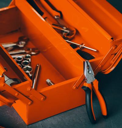 Caisse metallique accordeon